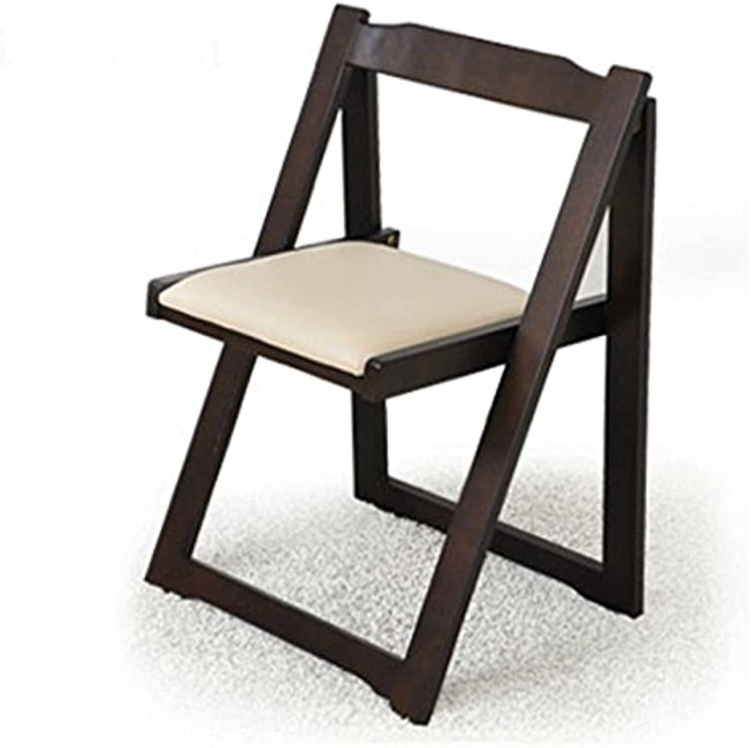 Household Wood Simple Folding Dining Chair Armchair Low Back Chair Folding Chairs Small Chair ( color   C )