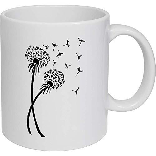 N\A Lustige Kaffeetasse Löwenzahn Keramikbecher Reisetasse Kaffeetasse Mark Becher Wasser Kaffee Tee Milch Saft Tasse Größe 11oz