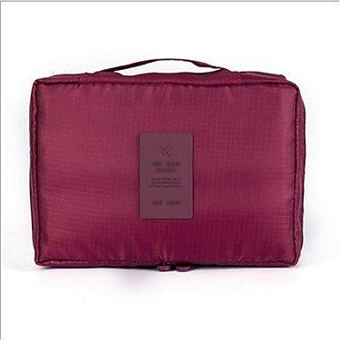 RY@ Unisexe Tissu Oxford Décontracté Trousse de Maquillage / Sac de Rangement , pink