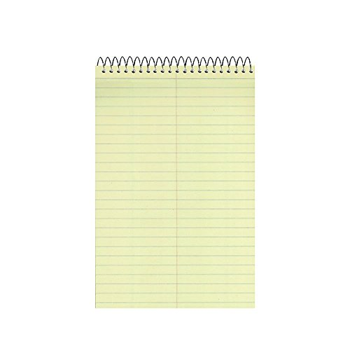 """National Steno Notebook with Brown Board Cover, Green Paper, Gregg Ruled, 6"""" x 9"""", 12 Notebooks with 60 Sheets Each (36646-12)"""