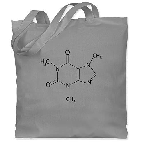 Shirtracer Nerds & Geeks - Kaffee chemische Formel - Unisize - Hellgrau - kaffee jutebeutel - WM101 - Stoffbeutel aus Baumwolle Jutebeutel lange Henkel