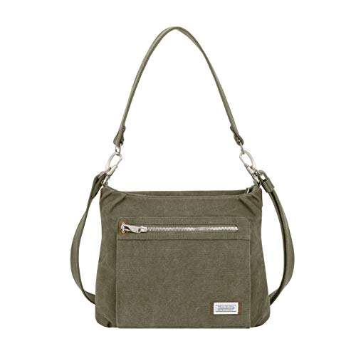 Travelon Anti-Theft Heritage Hobo Bag, Sage, 11.5 X 9.5 X 3