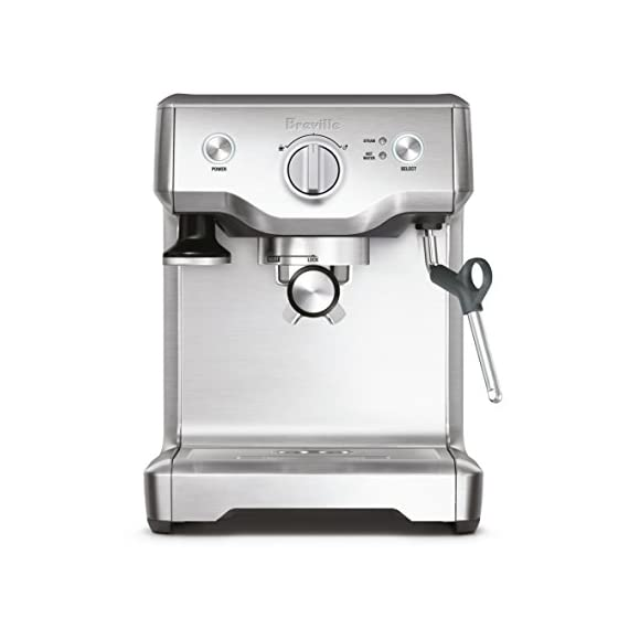 Breville BES810BSS Duo Temp Pro Espresso Machine, Stainless Steel, medium 1 15 bar Italian made pump starts with low pressure to bloom coffee grounds, then gradually increases pressure for extraction Extract one or two espresso shots at a time; Manual control of espresso shot volume 1 and 2 cup single and dual wall filter baskets included for use with freshly ground or pre ground coffee beans