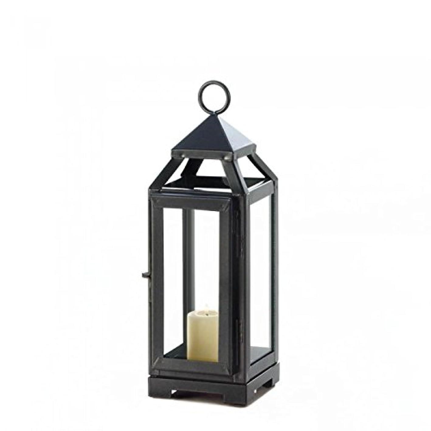 愛する統合砦Gallery of Light 10018134 Dark Gray Sleek Contemporary Candle Lantern - 11 in.