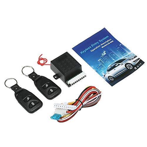 12V Universal Car Remote Central Kit , KKmoon Door Lock Locking Vehicle Keyless Entry System, with 2 Remote Control