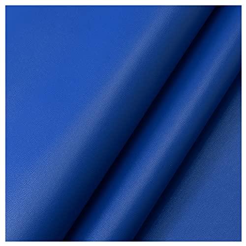 NIANTONG Tela de Cuero Sintético de PU por Metro 138x100cm, Tela de Tapicería de Polipiel Impermeable 1mm para Muebles Silla Sofá, Manualidades, Asientos de Coche(Color:Azul Real)