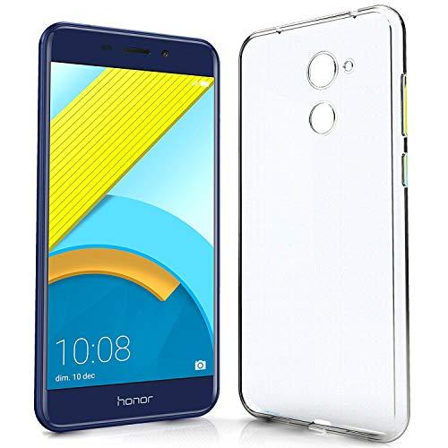 N NEWTOP Cover Compatibile per Huawei Nova Smart/Honor 6C, Custodia TPU Clear Gel Silicone Trasparente Slim Sottile Flessibile Case Posteriore Protettiva (per Nova Smart/Honor 6C)
