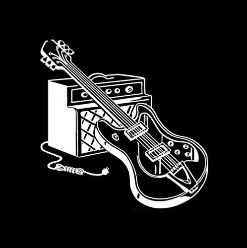 ALADKF Lustige Autoaufkleber Gitarre Musik Musikinstrument Rock Vinyl Auto Autoaufkleber 2pcs 15.8CM * 16CM