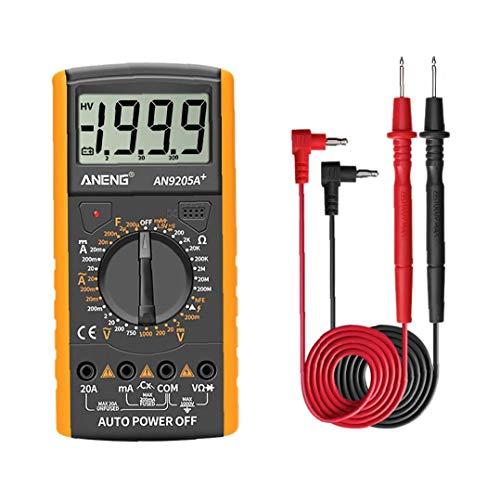 DT9205A Digital-Multimeter AC DC Transistor Tester Kunststoff gelb Professionelle Auto Range Multimeter