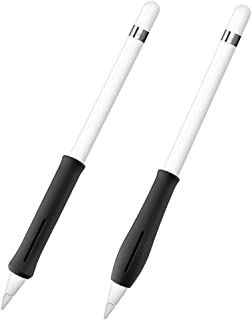 Fintie Silicone Grip Holder for Apple Pencil 1st 2nd Gen, Protective Skin Sleeve Case Accessories for Apple Pencil 1 2, iPad 6th Gen, iPad Pro 11, iPad Pro 12.9 2018 Pen, Black