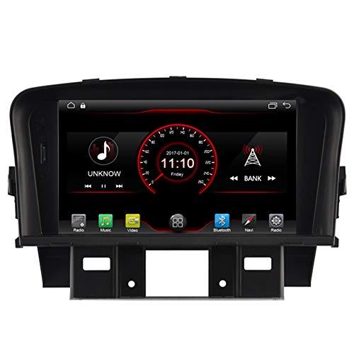 Autosion Android 10 Lecteur DVD de Voiture GPS Radio Head Unit Navi stéréo multimédia WiFi pour Chevrolet Cruze J300 2009 2010 2011 2012 2013 2014 2015 Support Commande au Volant