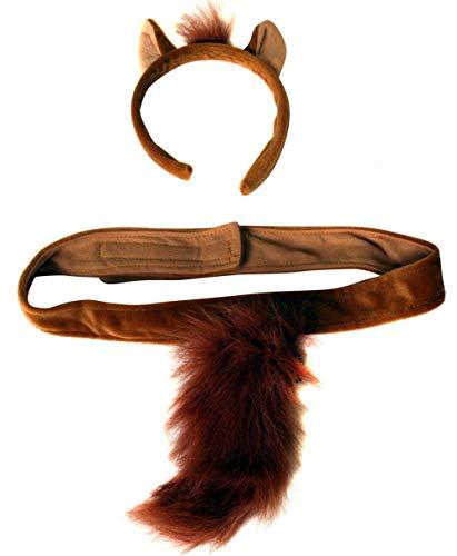 Plush Horse Headband Ears and Tail Costume Set