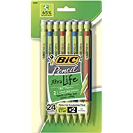 BIC MPEP241-Blk  Ecolutions Xtra-Life Mechanical Pencil, Medium Point (0.7mm), 24-Count