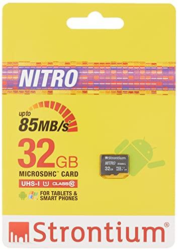 Strontium Nitro 32GB Micro SDHC Memory Card 85MB/s UHS-I U1 Class 10...