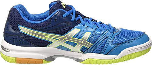 ASICS Herren Gel Rocket 7 B405N/4396 Volleyballschuhe, Blau (Blue Jewel/Glacier Grey/Safety Yellow), 46 EU