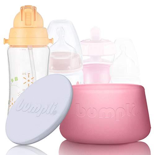 """bumpli ® Flaschenlicht für jede Baby & Kinder Flasche - Bekannt aus """"DAS DING DES JAHRES"""" - mit Akku und augenfreundlichem Kinderlicht in 2 Dimmstufen - Innovatives Nachtlicht mit Timer"""