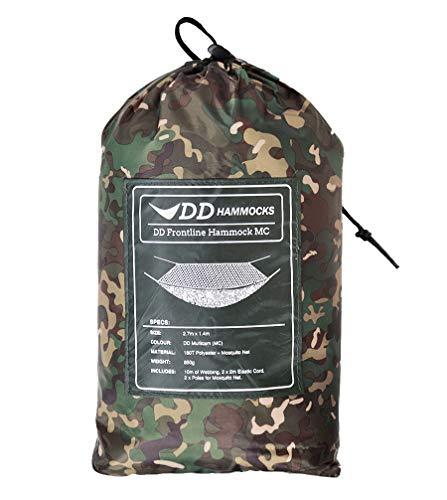 DD Frontline MC-atmungsaktive Reisehängematte Camouflage mit Moskitonetz und zweilagiger Liegefläche für Isomatte