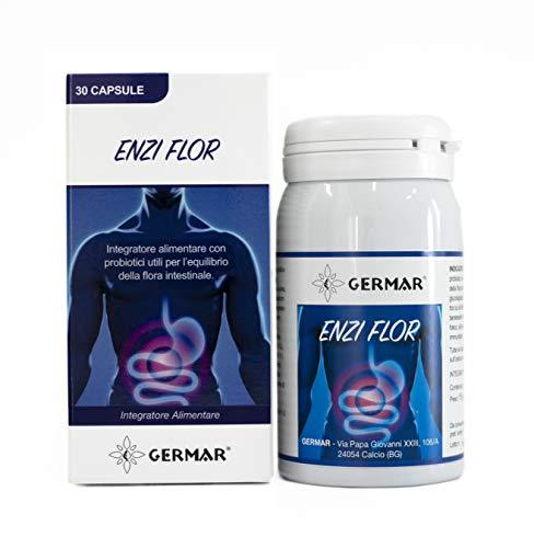 Germar Enzi Flor Integratore Probiotico, Formula ad Ampio Spettro di Ceppi, Contiene Inulina e Mirtillo Nero - 15 g
