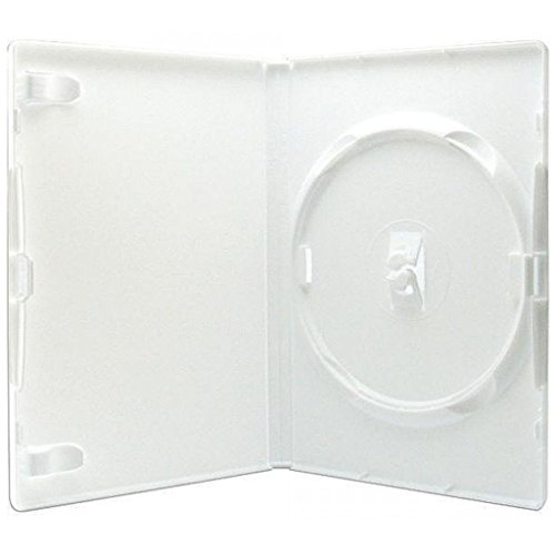 50 estuches blancos para DVD, marca Amaray - 14 mm