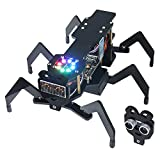 Freenove Robot Ant Kit (Compatible with Arduino IDE), Dot Matrix Expressions, Ultrasonic Obstacle Avoidance, Colorful Lights, IR Remote, App, Stem Project