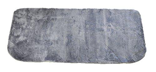 Leibersperger Felle Rückbank-Auflage aus Echtem Lammfell 135cmx60cm Fellhöhe 20mm geschoren (Taubenblau)