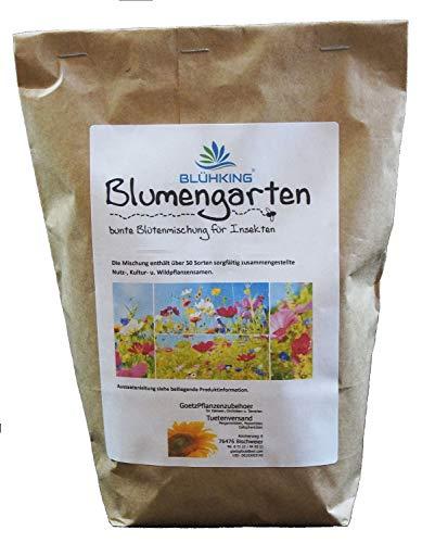 500gr. Blumengarten Bienenweide, Blühmischung, Blumenmischung, Blumenwiese, für bis zu 500m² von Blühking®