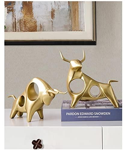DXZQ Adornos de Escritorio Figuritas Decorativas Decoraciones para el hogar Porche alcista decoración de la Suerte gabinete de Vino gabinete de TV Pantalla de Escritorio