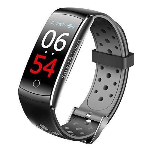 Mnjin Reloj Deportivo Pulsera de Ejercicio Q8S Frecuencia cardíaca Banda Inteligente Monitor de sueño Rastreador de Ejercicios Banda de presión Arterial IP68 Reloj de Pantalla a Color Impermeable
