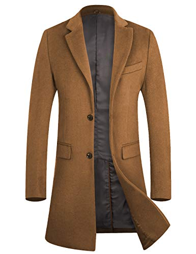 Mens Camel Trench Coat