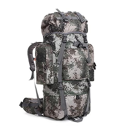 GAOJIN Mochila de Asalto Militar táctico al Aire Libre Camping Senderismo Daypack Bolso Grande 85L,A