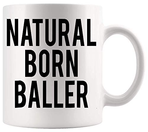 Taza Mug Camiseta deportiva de baloncesto Natural Born Baller Cool Tazas 330Ml