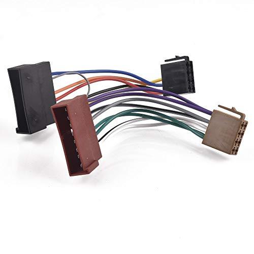 CROSYO 1pc Coche Radio ISO Adaptador Cable Conector Conector de arnés para FORD FIESTA MK4 ESCORT MONDEO Foco Granada Explorer