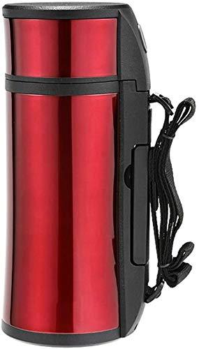 ZCRR Jarra de vacío de 1,6 l, olla aislante, gran capacidad de acero inoxidable al vacío para el hogar o viajes termo portátil (color: rojo)