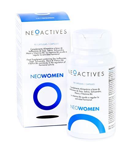 Neowomen | Complemento Alimenticio Vitamínico con Isoflavonas de Soja, Vitamina B6, Extracto de Maca, Salvia, Schisandra y más ingredientes naturales | Ayuda a regular la actividad hormonal (90)