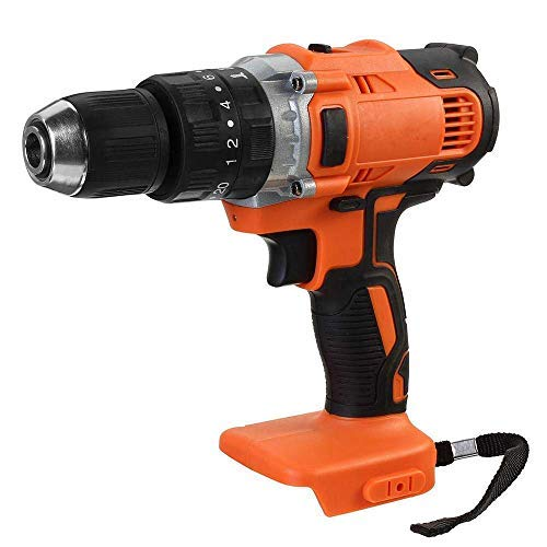 MASALING Electric Cordless Impact Drill,Professional Chargable Cordless Drill without batteies,Three-in-one Electric Impact Drill Charging Drill 13mm Chuck, Suitable for Makita Battery 18V~21V-Yellow