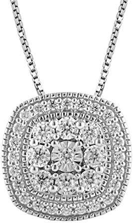 1/2 Carat Stunning Diamond, Pave-Set 925 Sterling...