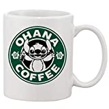 Thorea Ohana Coffee Lilo e Stitch Tazza Tazza Due lati Ceramica 11 Oz per telefono