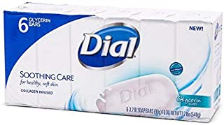 Dial Glycerin Bars 3.2 ounce #6 - Soothing Care Collagen Infused 1.2 pounds