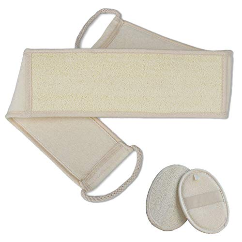 Luffaschwamm Rückenscrubber, Luffa Natur Schwamm, Körper und Gesichts Peeling Set(3pcs)
