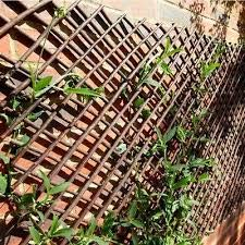 A2Z Home Solutions Lovely Addition Garden Outdoor Expanding Willow Trellis Screening Fences- Dark Brown (90x180cm Trellis)