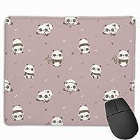 マウスパッド 浅い紫 パンダ 子供 グレー ゲーミング オフィス最適 おしゃれ 疲労低減 滑り止めゴム底 耐久性が良い 防水 かわいい PC MacBook pro/DELL/HP/SAMSUNGなどに 光学式対応 高級感プレゼン YAMAYAGO