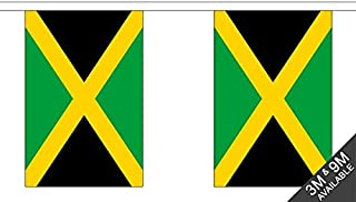 Jamaica Triangular Bunting 27 flags 10 metre Long Bunting