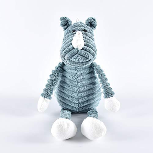 Knuffel Schattige Gestreepte Kleine Dieren Pop Creatieve Kinder Verjaardagscadeau 33cm (zittend 20cm hoog) neushoorn