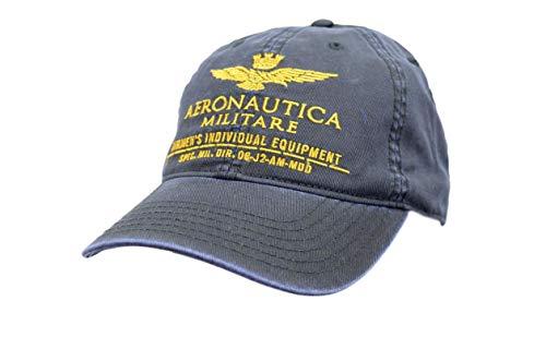 Aeronautica Militare Casquette de Baseball HA1014, Unisexe, Bleu, Chapeau, Flèches Rose Tricolore Large Reliées Zircon, Polo, Tshirt, Bonnet