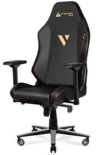 GTRACING Gaming Chair ACE Series Ergonomic Big and Tall Gaming Chair Computer Chair Reclining Racing Chair with Swivel, Tilt, 4D Armrests, High Backrest, Rocker Seat Height Adjustment (Black)