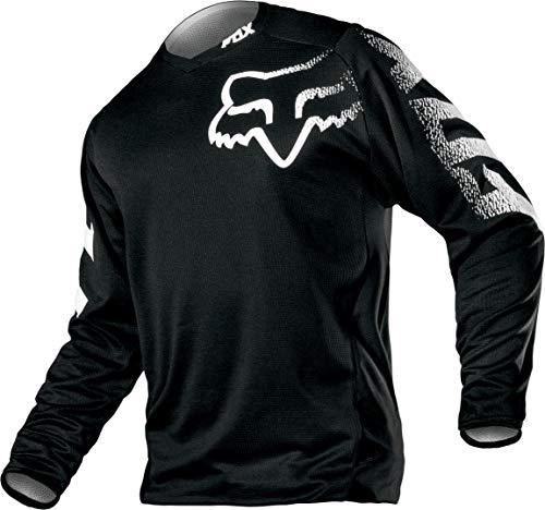 Fox Racing Jungen Motorcross Motorräder, Jungen, YTH Blackout Jersey, schwarz, Large