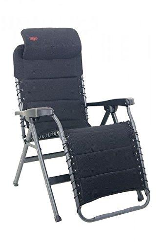 Aluminium chaise pliante de camping en duraluminium-toile 100 % pOLYESTER avec revêtement en pVC 8 positions : 4,8 kg-couleur : anthracite-charge maximale : 125 kg avec holly disponible contre supplément fÄCHERSCHIRMEN-holly ® produits sTABIELO-innovation fabriqué en allemagne-holly sunshade -