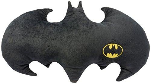 Batman Fledermaus Logo-kuscheliges Velboa, ca. 60 x 37 cm – 0122061 Kissen, Polyester, schwarz, 50 x 37 x 5 cm