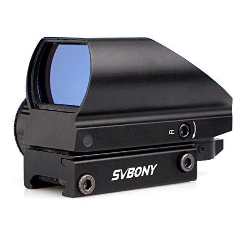 Svbony Punto de Mira 20mm Miras Telescópicas con 4 Retículas y 5 Niveles de Brillo Visor de Punto Rojo para Actividades Deportivas (Negro)