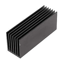 Generic M.2 SSD Aluminum Heatsink Cooling Kit W/Silicone Thermal Pad - Black